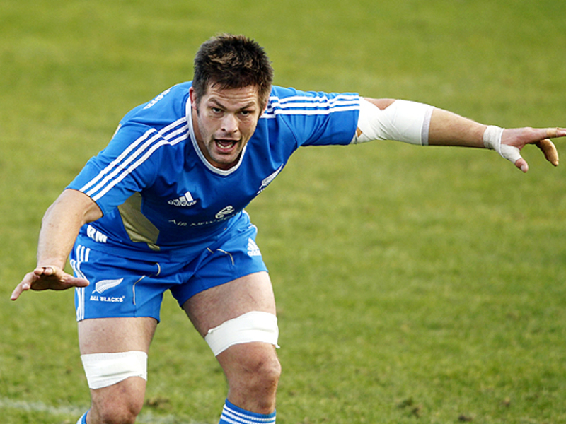 Large richie mccaw stares