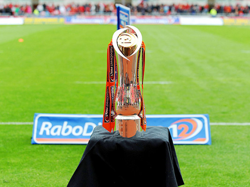 Large pro12 trophy on field 630
