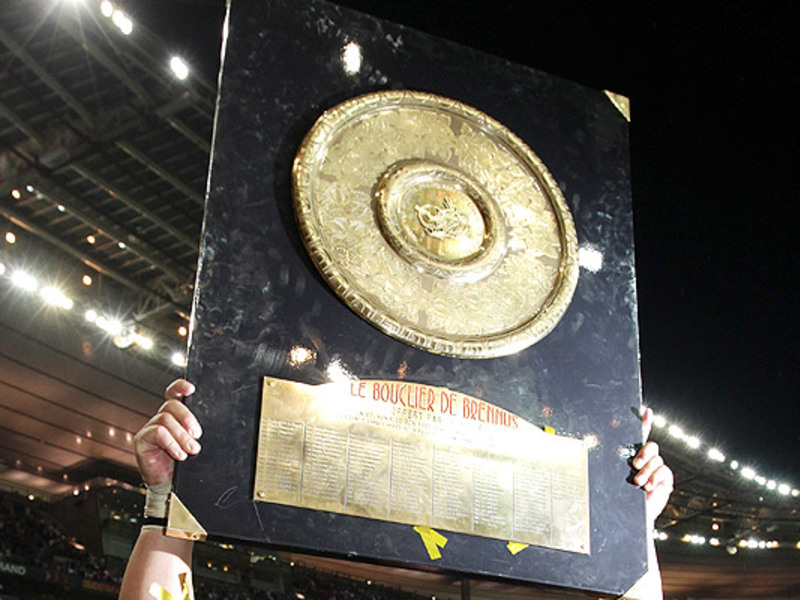 Large french top 14 trophy 630
