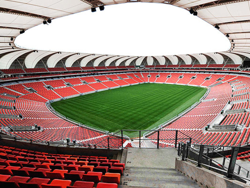 Large nelson mandela bay stadium