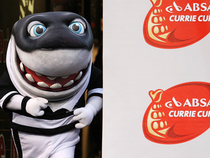 Large sharks mascot runs 630