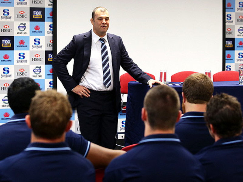 Large michael cheika speaks to pl