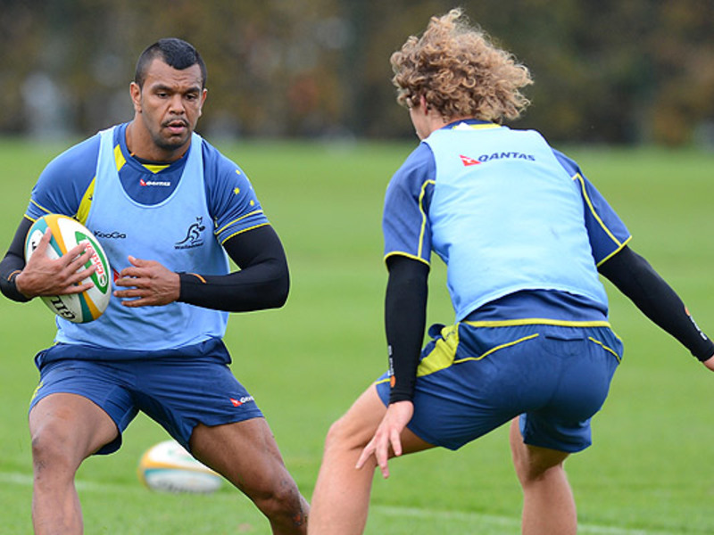 Large kurtley beale wallaby train