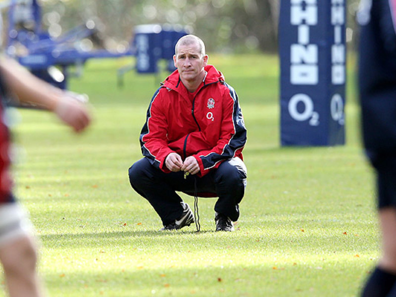 Large stuart lancaster on his hau