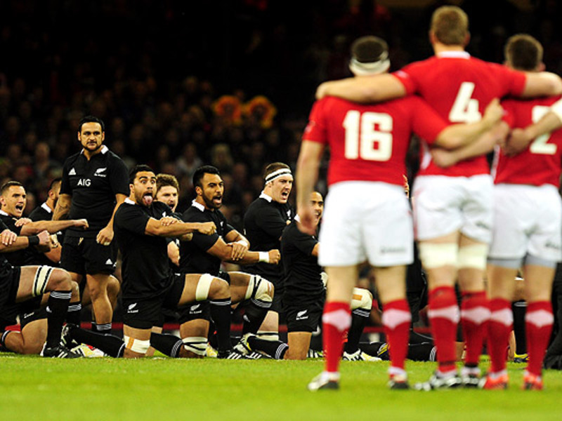 Large wales v nz haka