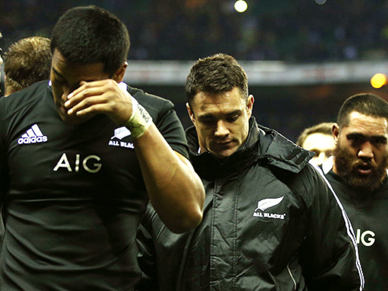 Large all blacks dejected
