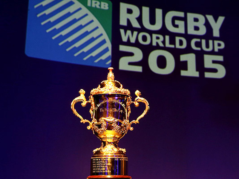 Large world cup 2015 with trophy