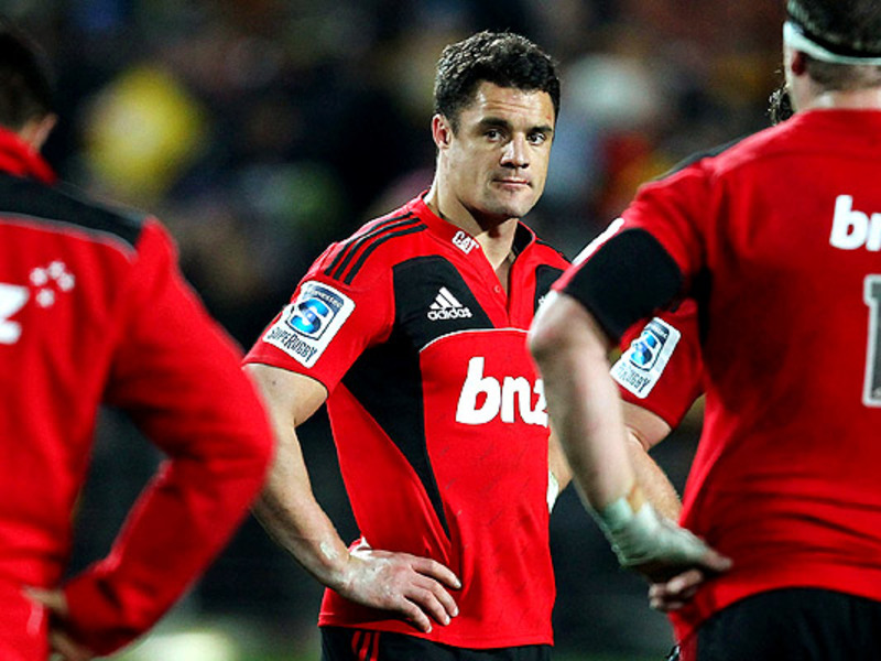 Large dan carter with crusaders t