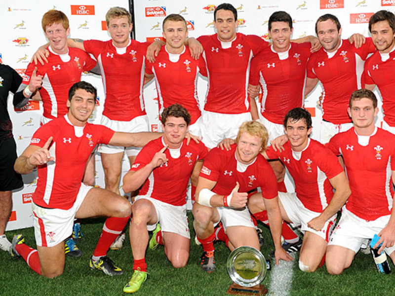 Large wales 7s celebrate
