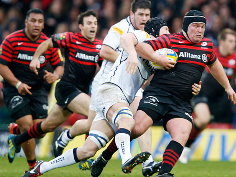Large saracens v sale sharks