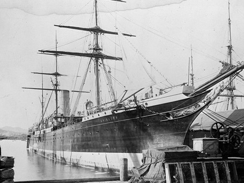 Large ship kaikoura 1888
