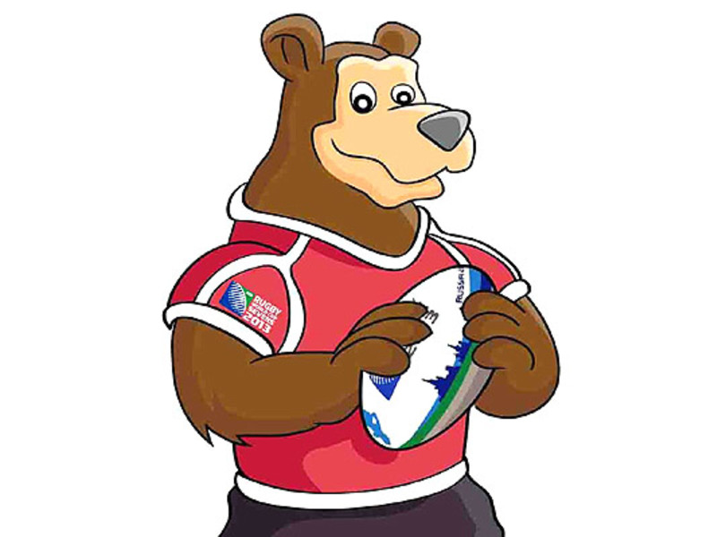 Large 7s world cup mascot