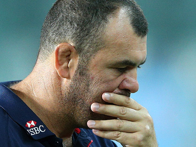 Large michael cheika dejected