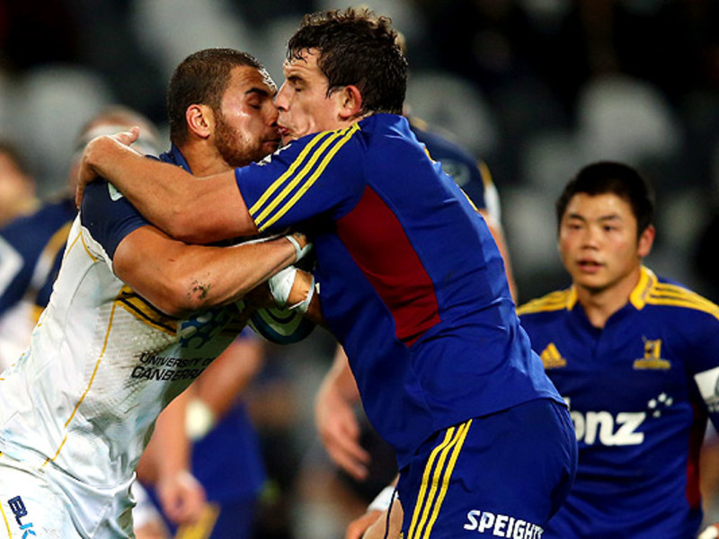 Large highlanders v brumbies