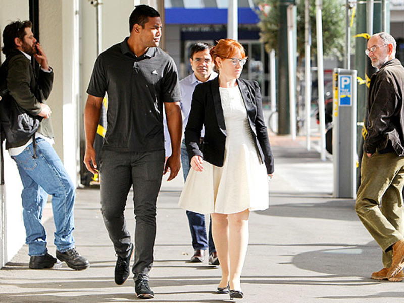 Large julian savea arrives at cou