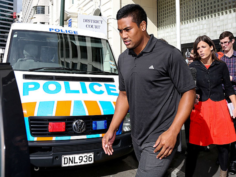 Large julian savea arrives at co2