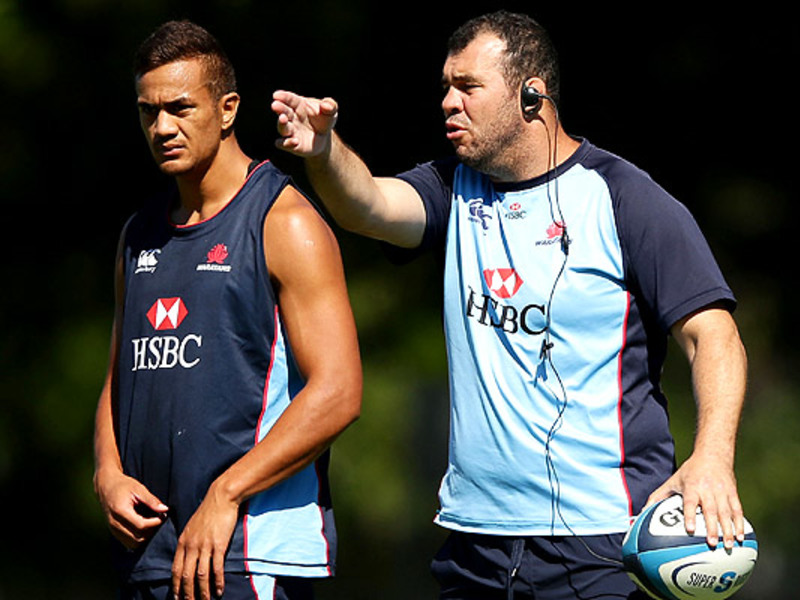 Large michael cheika gestures