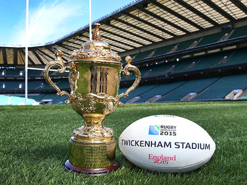 Large webb ellis cup with ball