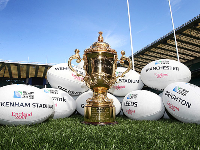Large webb ellis cup with balls
