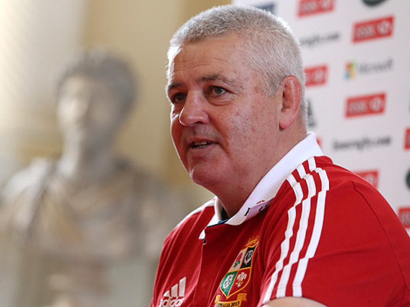 Large warren gatland lions media