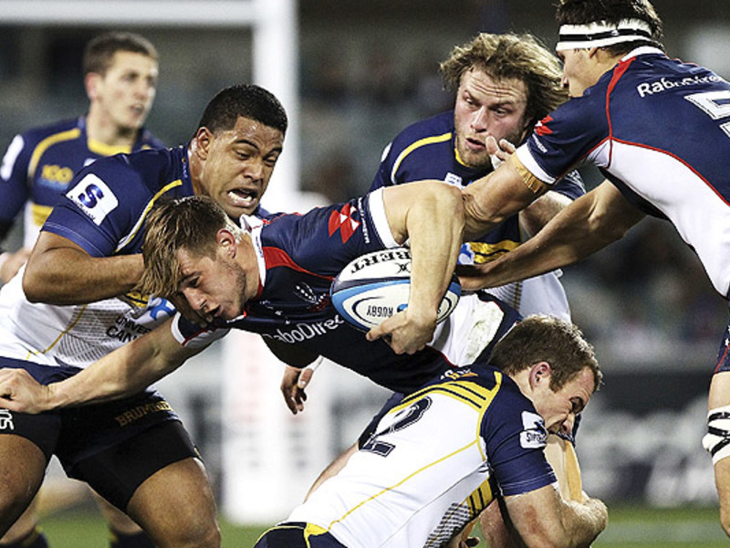 Large brumbies v rebels