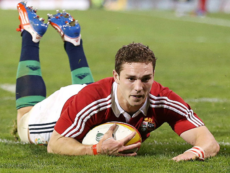 Large george north lions try