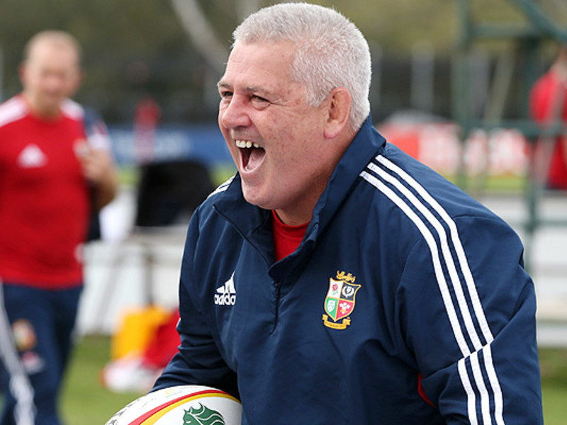 Large warren gatland laughs
