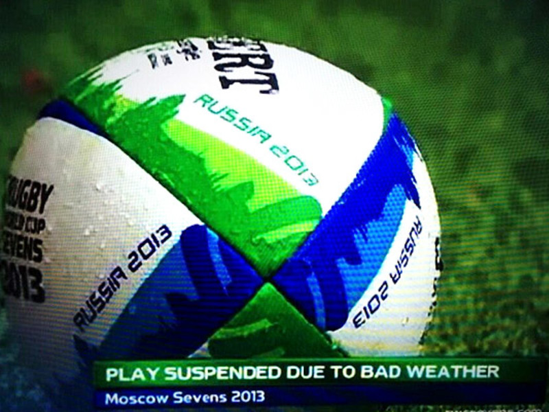 Large wet rugby ball 7s