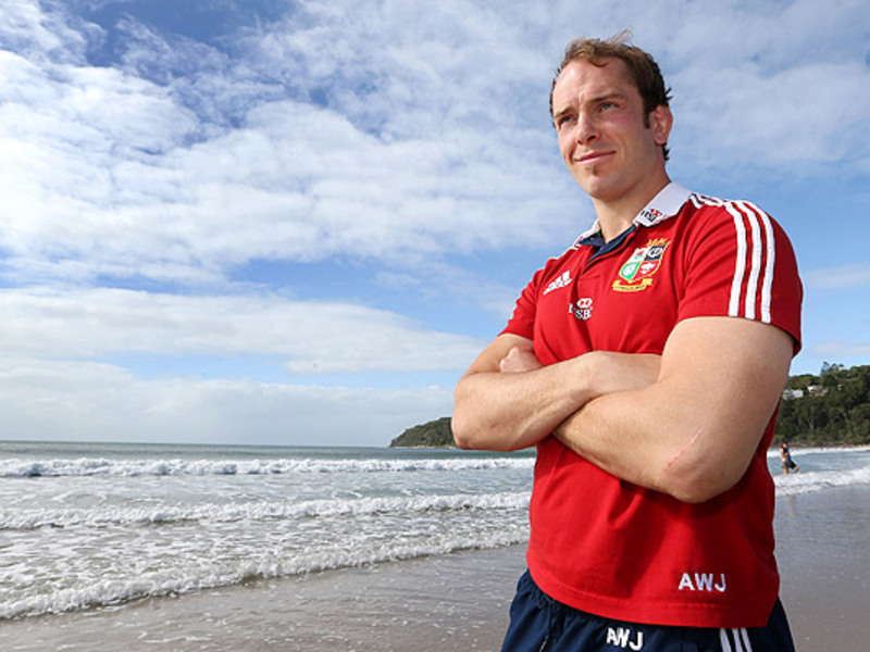 Large alun wyn jones at sea