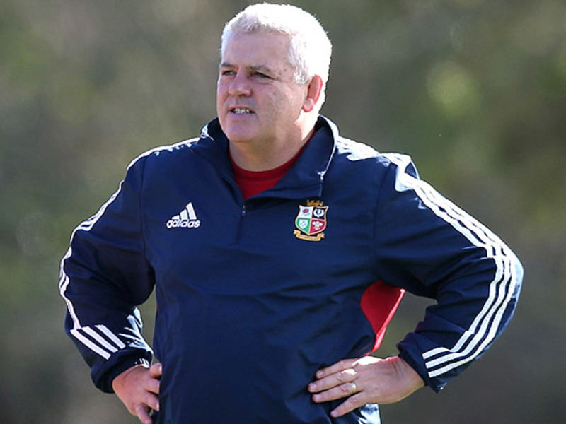 Large warren gatland hands on hip