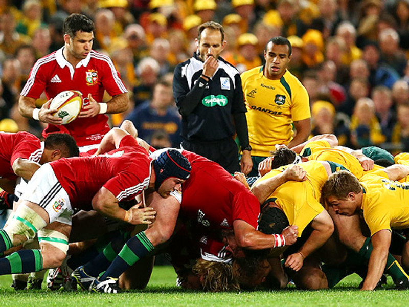 Large aus v b i lions scrum