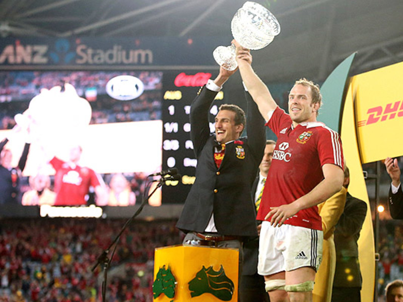 Large alun wyn jones with trophy
