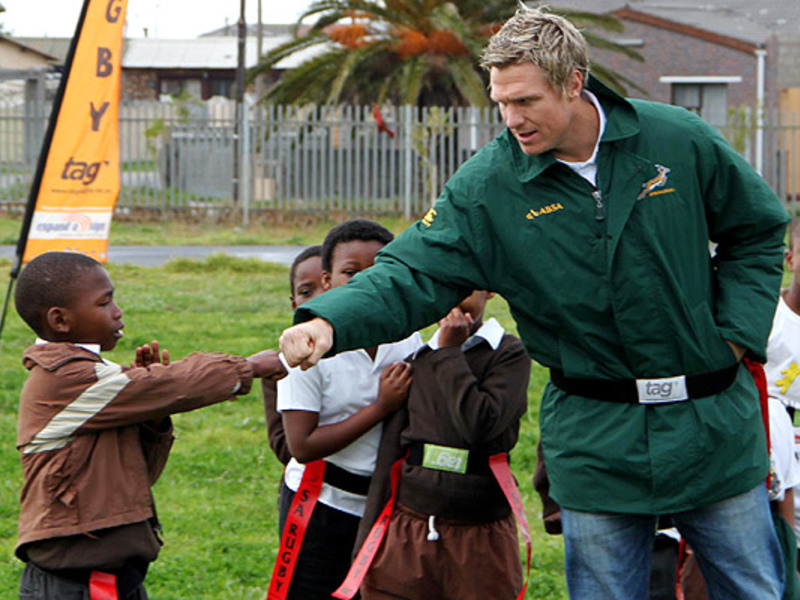 Large jean de villiers on mandela