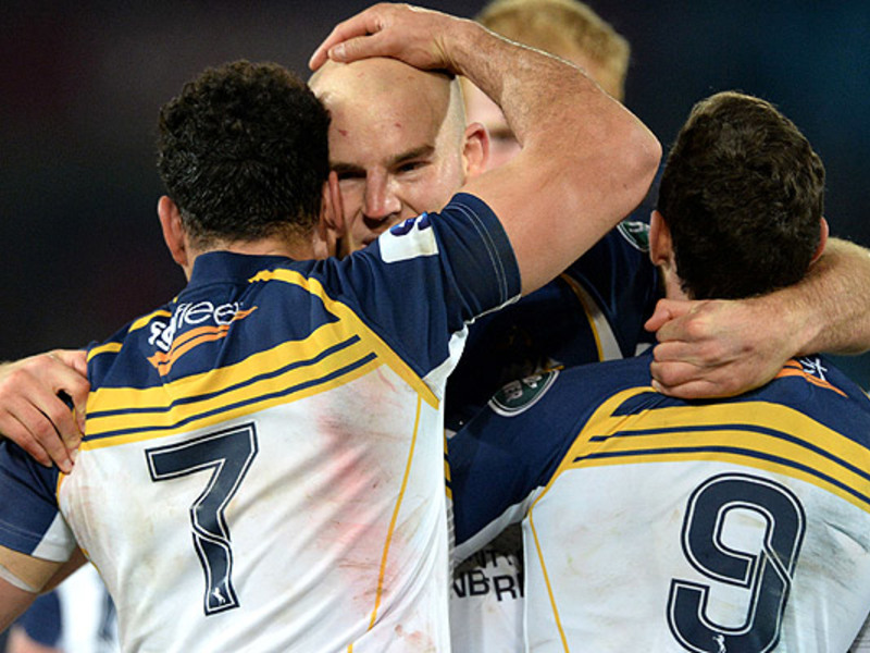 Large brumbies celebrate
