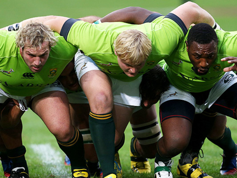 Large bok scrum