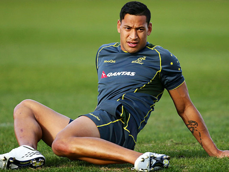 Large israel folau wallabies