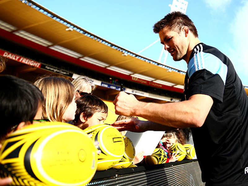 Large richie mccaw with fans