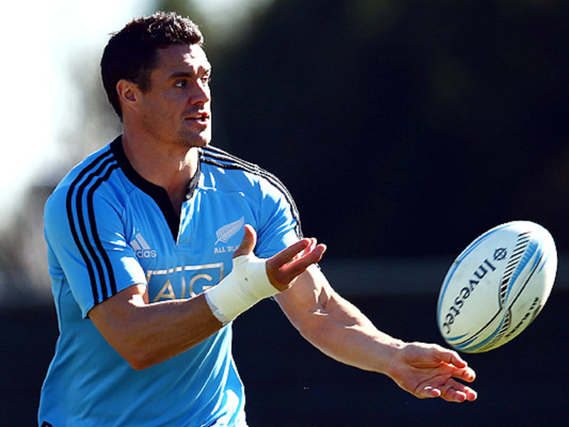 Large dan carter all blacks train