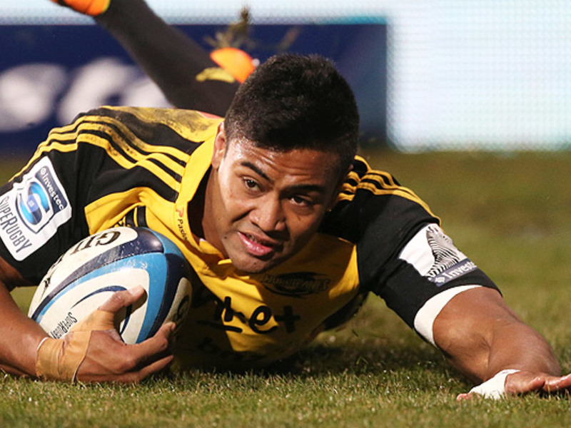 Large julian savea hurricanes try