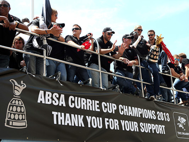 Large sharks victory parade