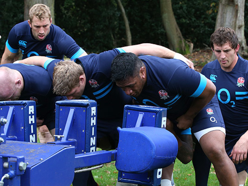 Large england scrum training