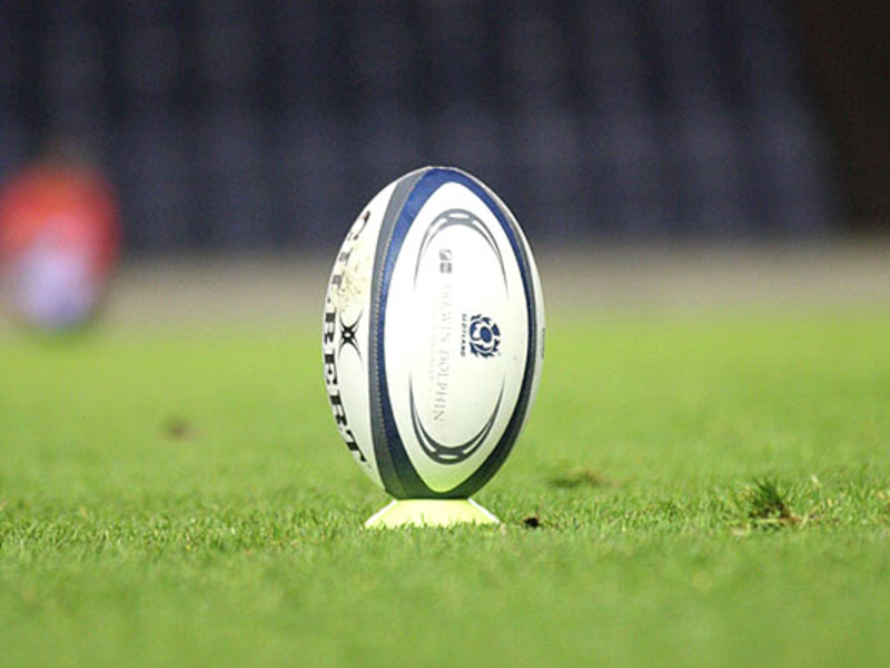 Large murrayfield pitch with ball