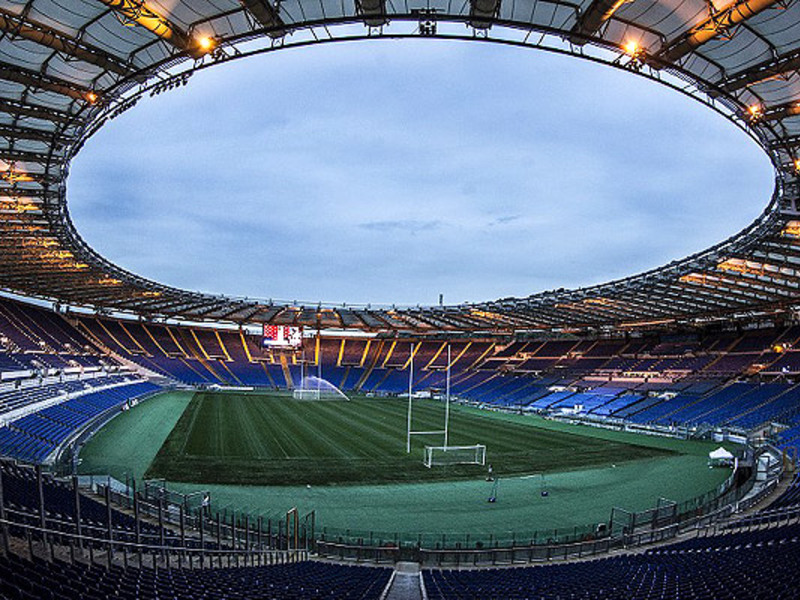 Large stadio olimpico in rome