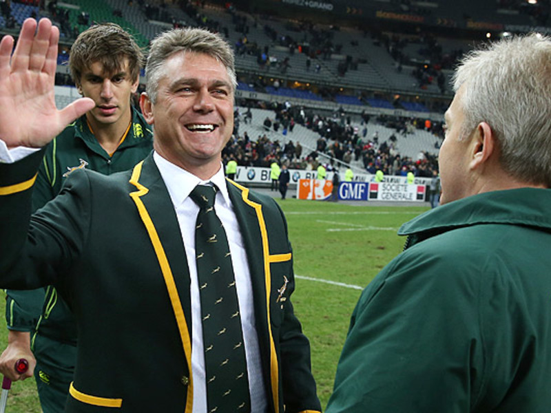 Large heyneke meyer celebrates