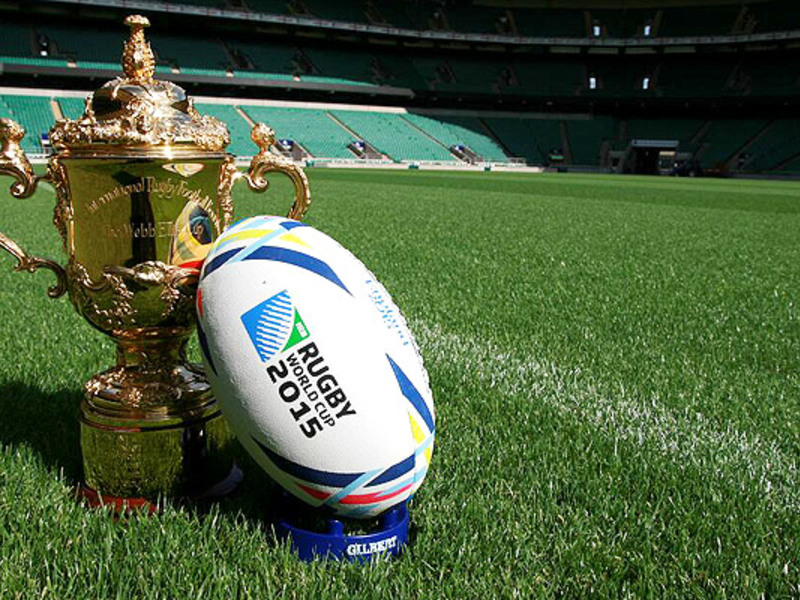Large webb ellis cup and ball