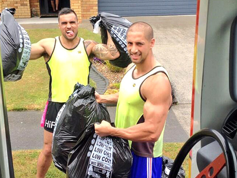 Large liam messam black bags