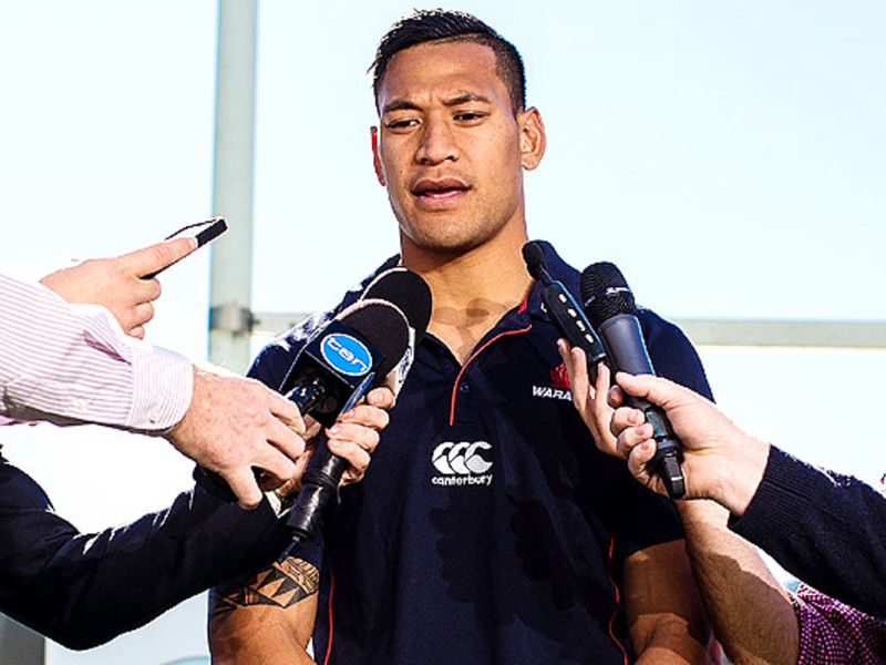 Large israel folau interviewed