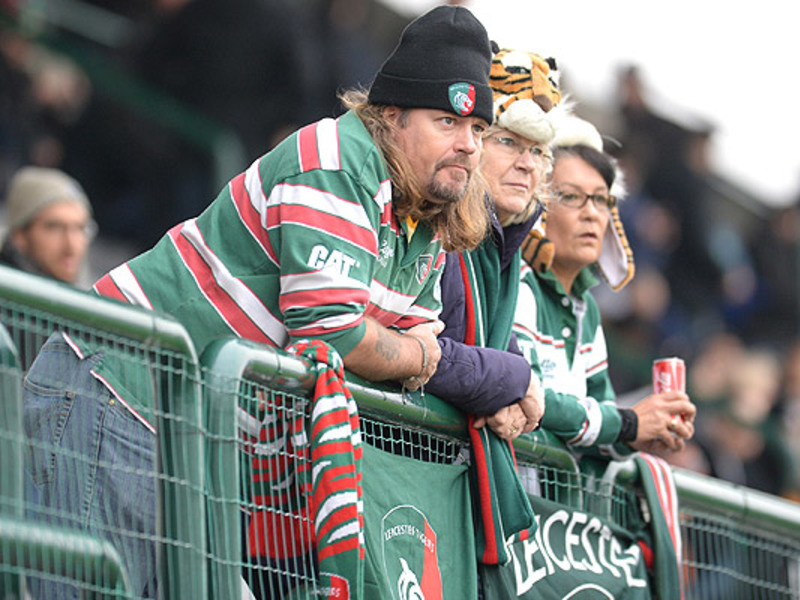 Large leicester tigers fans