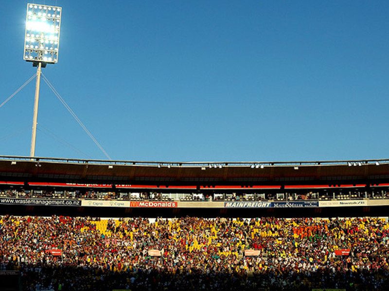 Large wewstpac stadium crowd