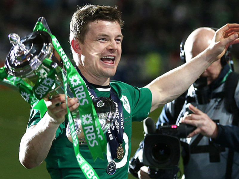 Large brian o driscoll 6n trophy
